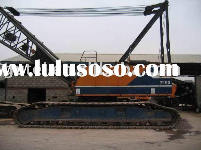 used Kobelco P&H 7150 150 ton crawler crane