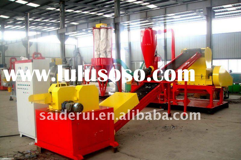 waste or scrap copper wire recycling equipment,separate copper and plastic completely,wste copper re