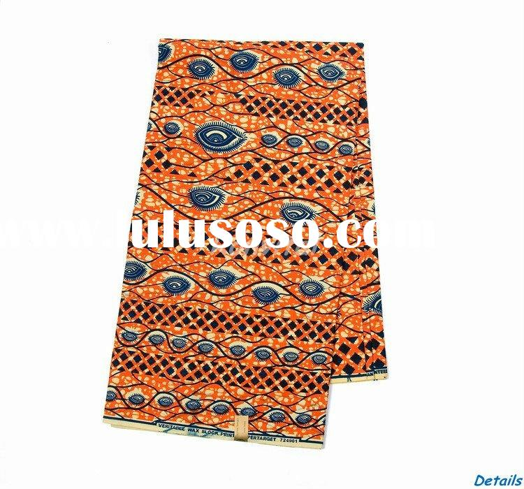 wholesale fashion veritable wax print cotton fabric in bulk 106C