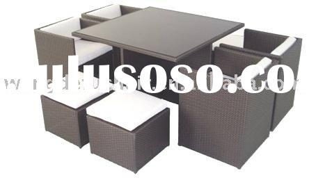 wicker/rattan outdoor table-chair set SF-28