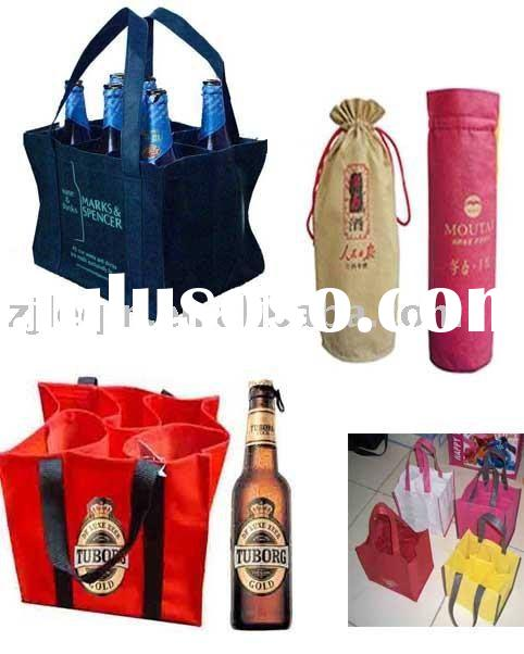 wine non woven bag with 6 bottles