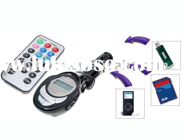 wireless car fm mp3 player support frequency and music