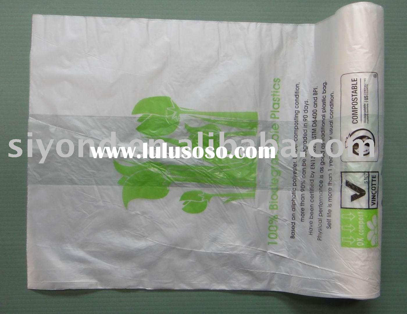 100% Biodegradable package corn starch bag