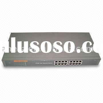 Fast Ethernet Gigabit on 16 Port N Way 10 100mbps Fast Ethernet Switch  Supports Auto Mdi And