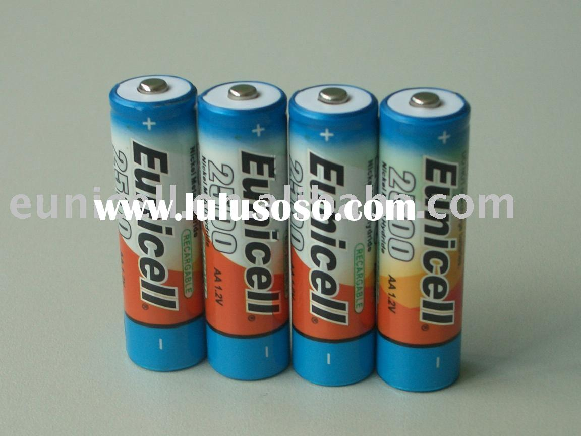 1.2V AA 2500mah nimh rechargeable battery(Eunicell brand)