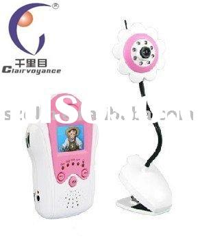 1.5 inch color wireless video baby monitor
