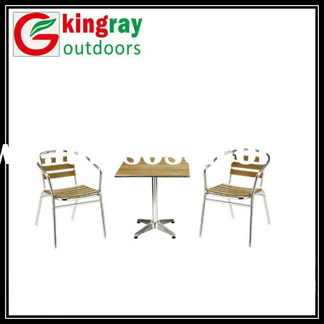 2012 outdoor aluminum furniture with wood slats