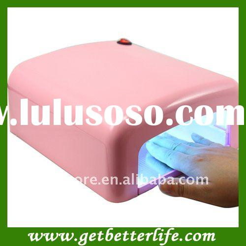 36W professional nail UV lamp Gel curing UV lamp pink color with CE
