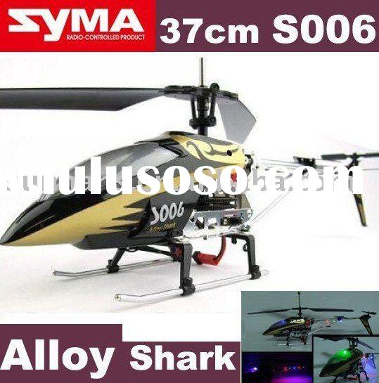 3 CH SYMA S006 Alloy Shark rc helicopter radio remote control METAL r/c helicopter rc airplane plane