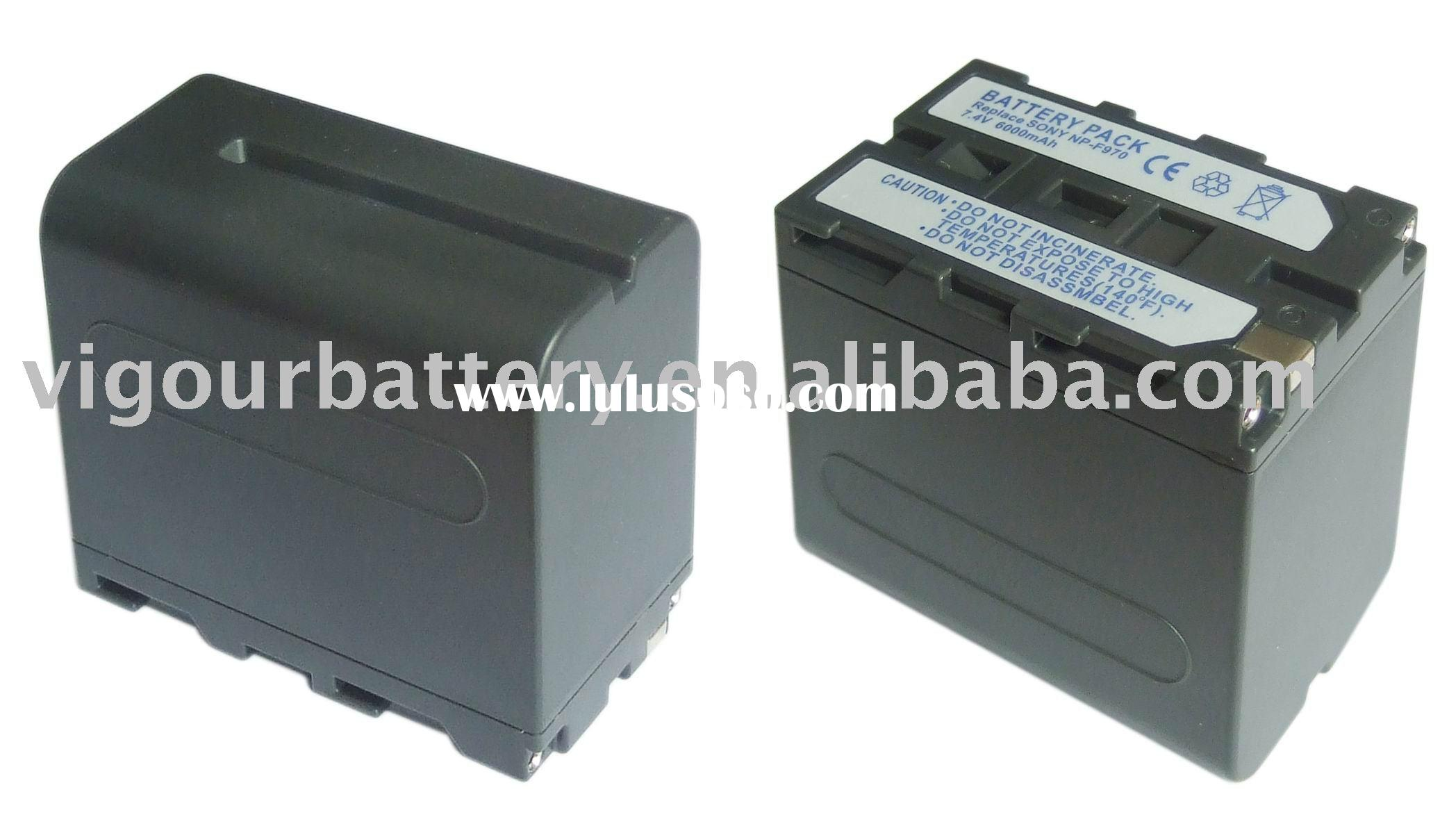 6C Li-Ion 7.4V 6000mAh Rechargeable Battery Pack for Digital Camera Sony NP-F960/F970