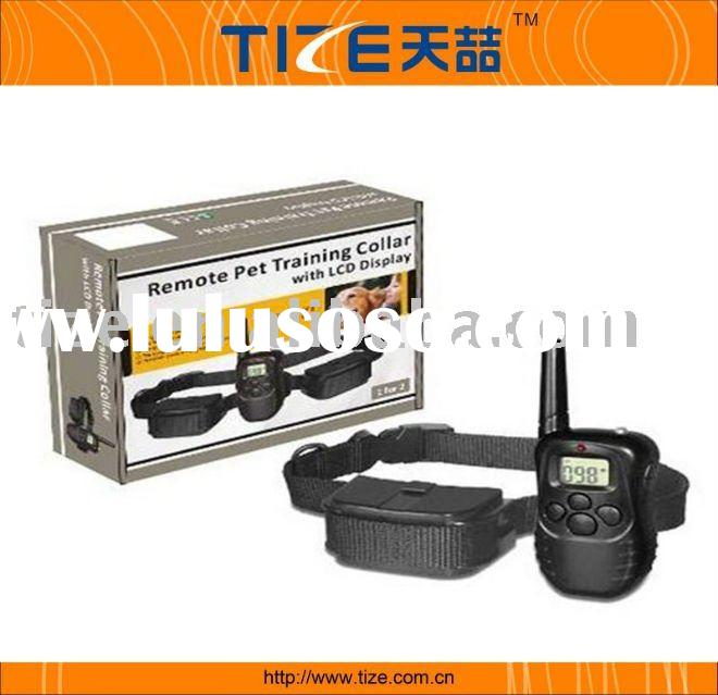 998d dog training collar , Remote training collar with LCD display, pet trainer (adjust intensity of