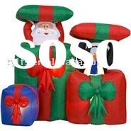 Air-Blown Christmas Inflatable Pop-Up Santa and Penguin