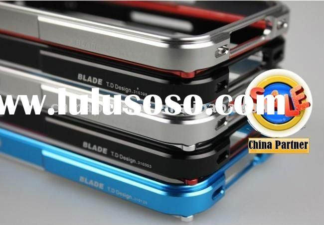 Aluminum Blade Metal Bumper Case For Apple iphone 4 4G