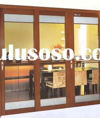 Aluminum door window
