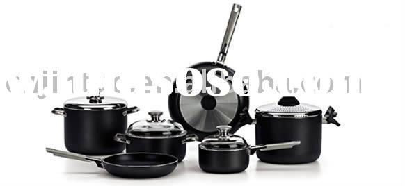 Aluminum non-stick cookware set with 10pieces cookware
