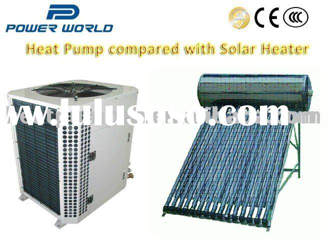 Automatic control air source heatpump water heater with Solar