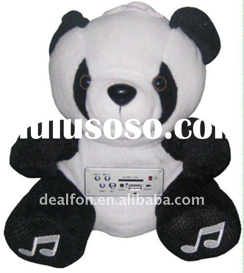 Bear Plush Toy Doll SD Card MP3/4 PC Mini Speaker Sound Box Gifts With Remote Control