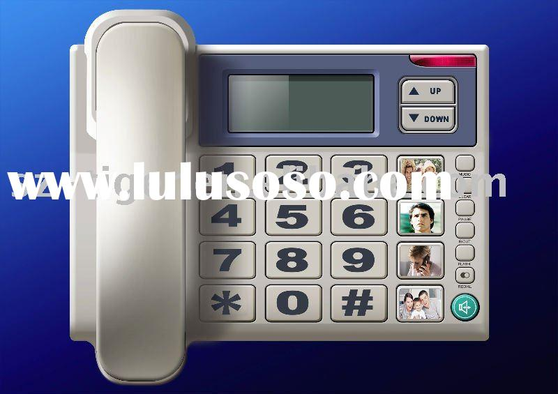 Big button caller id phone corded caller id telephone with blue light and voice talking