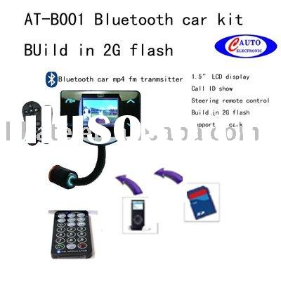 Bluetooth Car Kit +Mic+FM+MP3+mp4 Player with 2GB memory