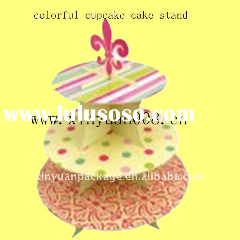 Colorful Cupcake Stand For Baby's Birthday Party