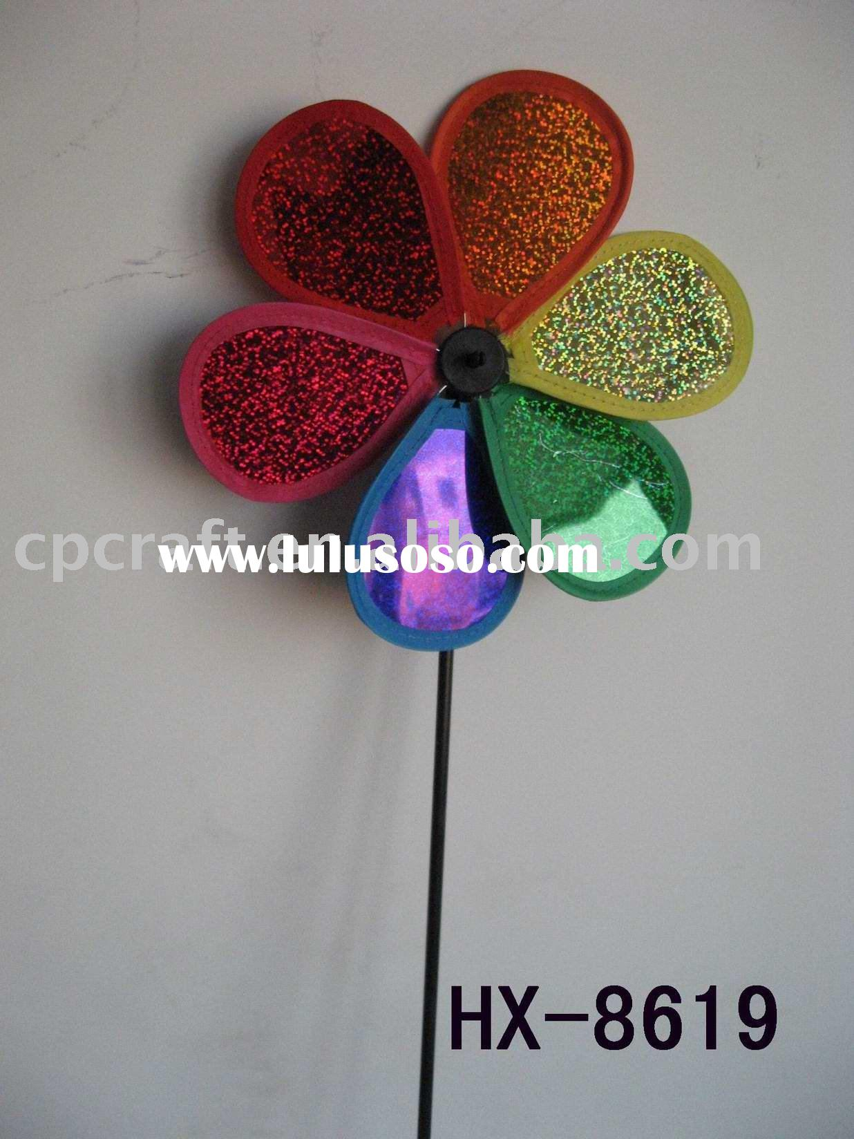Craft art garden outdoor decoration plastic windmill pinwheel wind wheel