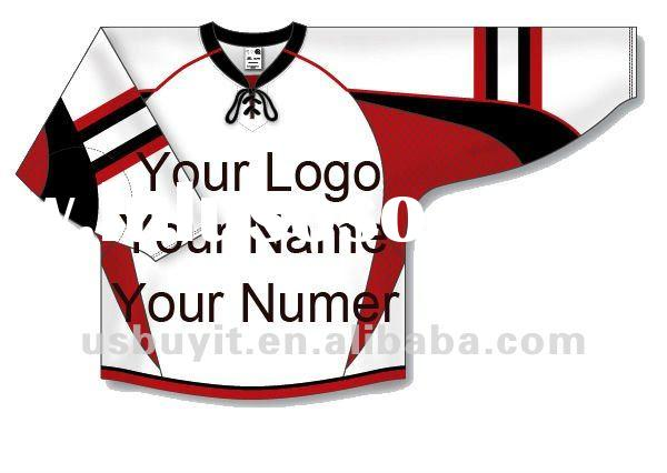 Custom Ice Hockey team Jerseys with embroidered logo Drop shipping