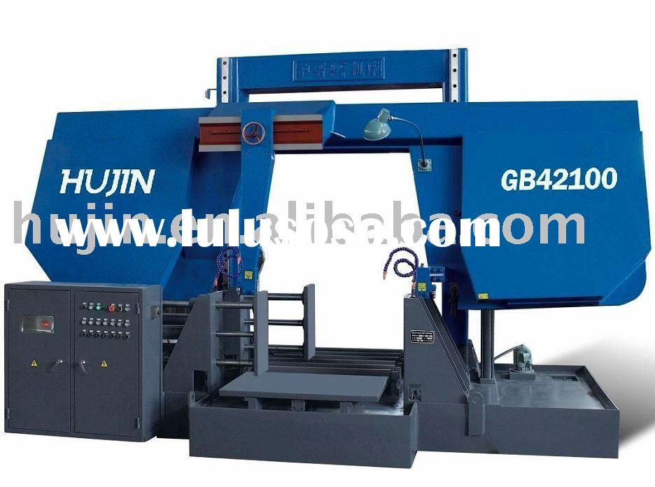 Double column metal cutting band saw machine