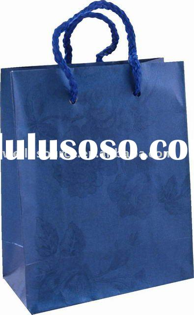 Fancy paper gift shopping hand bag