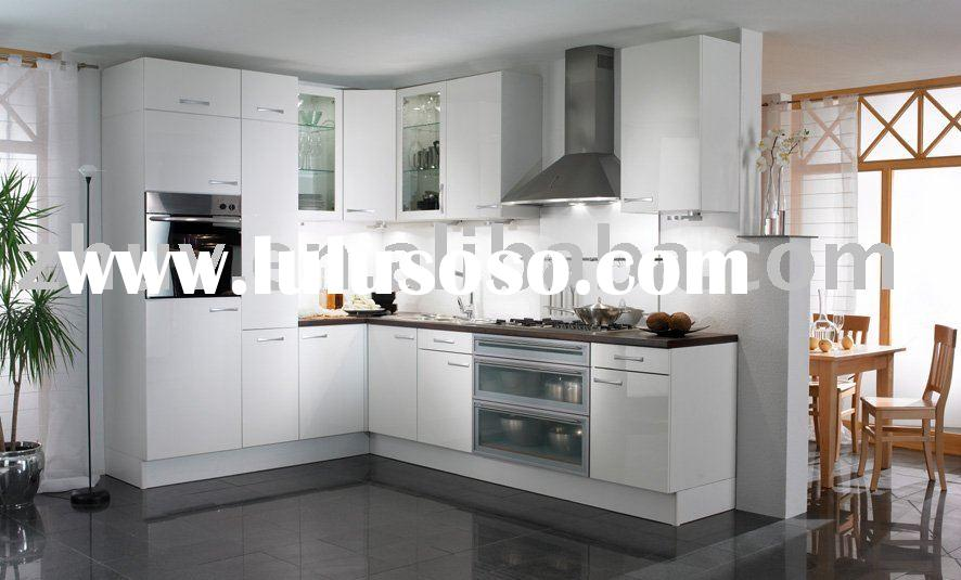 High Glossy Acrylic Kitchen Cabinet Door Panel (Acrylic and Aluminium Alloy Edge Banding)