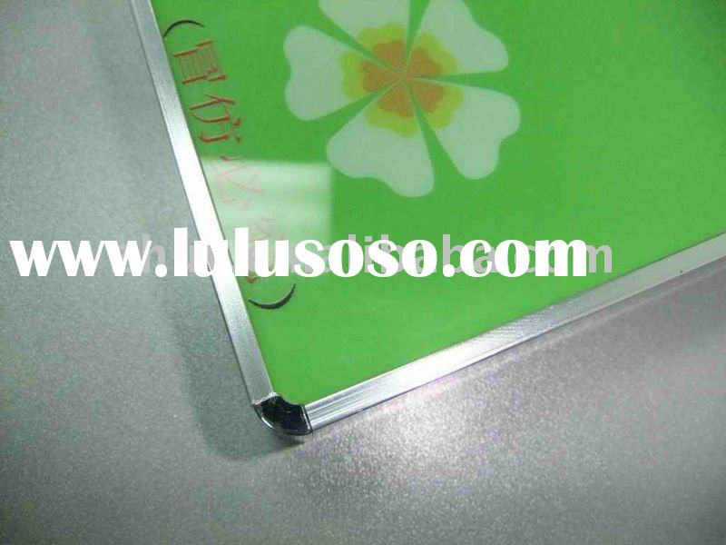 High gloss kitchen cabinet door with aluminum edge banding