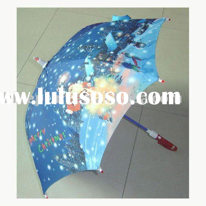 Kids Christmas LED Umbrella,Children Music Umbrella