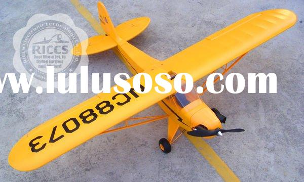 Model plane 4 CH BlitzRCWorks 2.4GHz J-3 Cub Radio Remote Control Electric RC Airplane RTF w/ Flawle