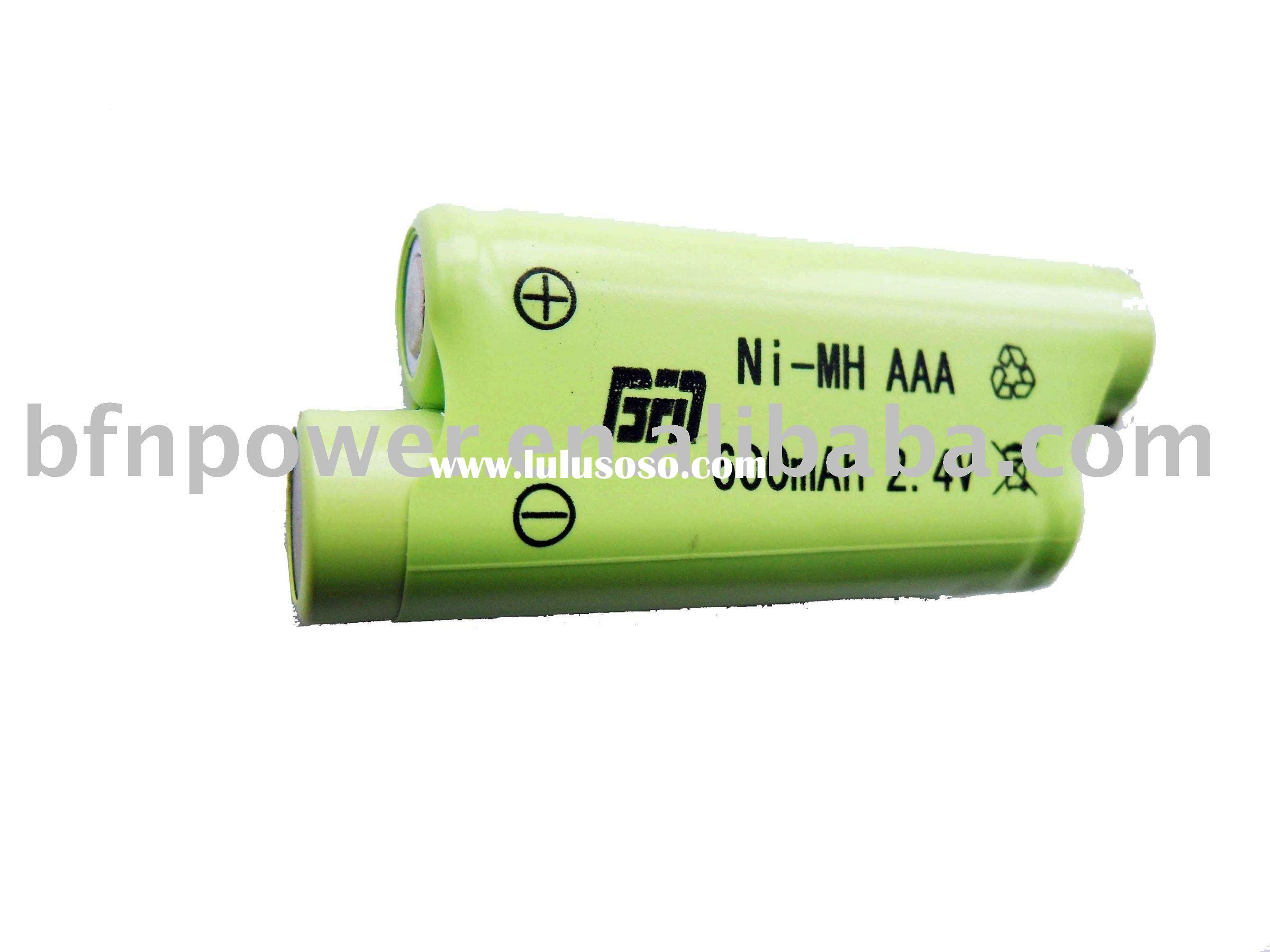 NI-MH battery pack AAA 600mAh 2.4V. rechargeable)