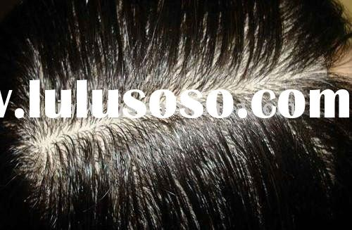 Natural look Curly Indian Remy Hair Weave Silk Base Top Lace Closure Paypal Acceptable