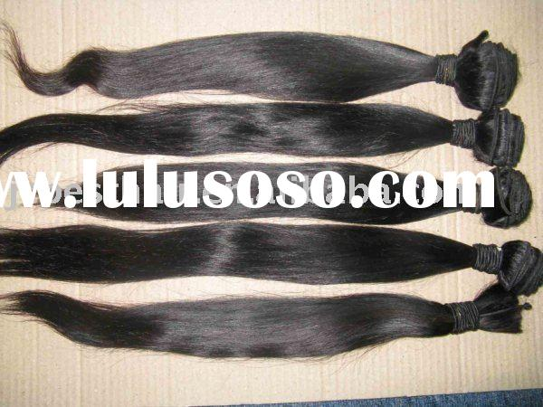 Peruvian remy hair extension/weaving/weave/weft
