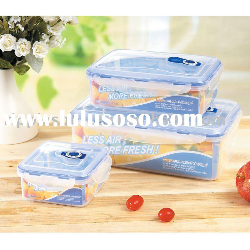 Plastic box,plastic storage container,food storage box,3pcs airtight and waterproof container,lunch