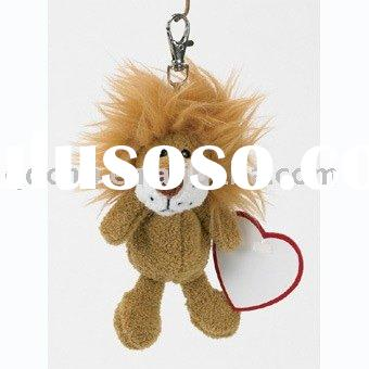 Plush Lion Keychain Mini Plush Lion Promotion Gift Mini Stuffed Lion Toy with Heart Mini Plush Toy