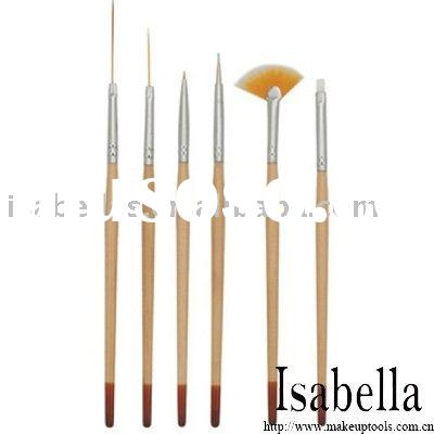 Professional 6 pcs Nail Art Gel Design Painting Pen Polish Brush