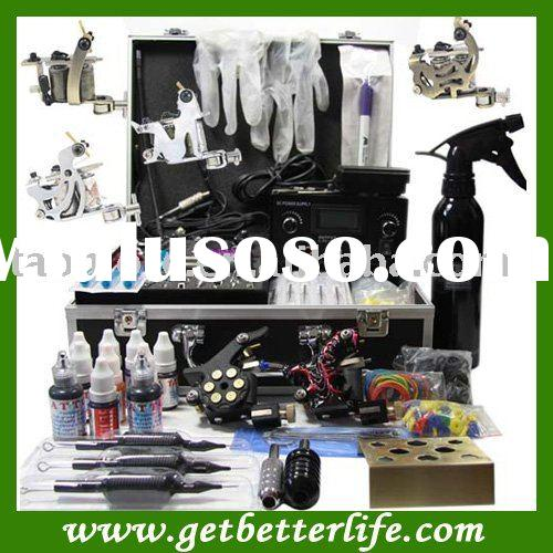 Professional Tattoo Kit with Dual LCD tattoo Power Supply