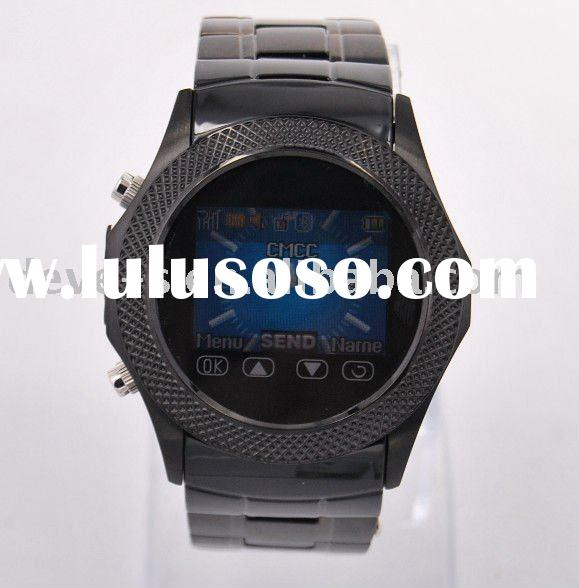Stainless steel wrist mobile phone watch W960,2MP camera,1GB&mono bluetooth headset