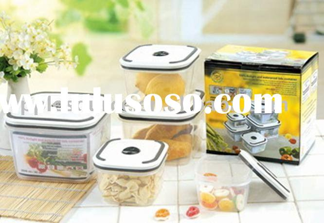 Storage container,5pcs airtight and waterproof container set,container in PP+TPR,lunch box
