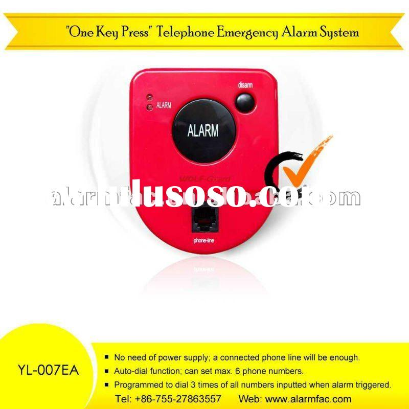 Telephone Auto-dial Emergency Help Alarm System for the Elders