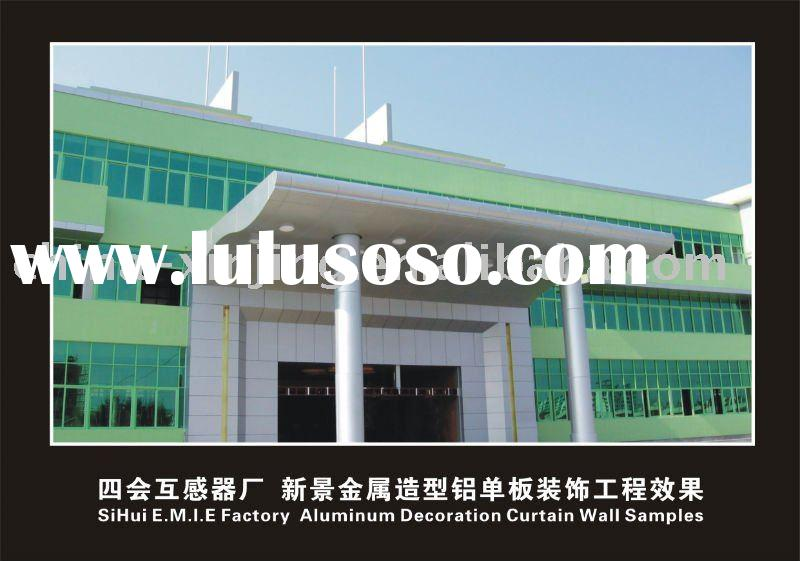 aluminum cladding/facade/curved curtain wall ceiling (ISO9001)