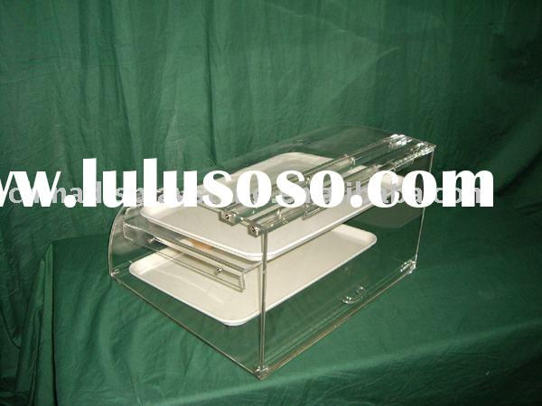 bakery display case , donut display case , food storage box , acrylic box , lucite box . candy box ,