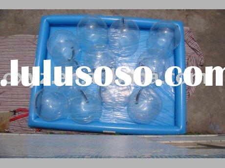 inflatable swimming pool with water walking ball