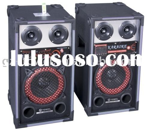 karaoke speaker box, professional audio equipment system, loudspeaker box