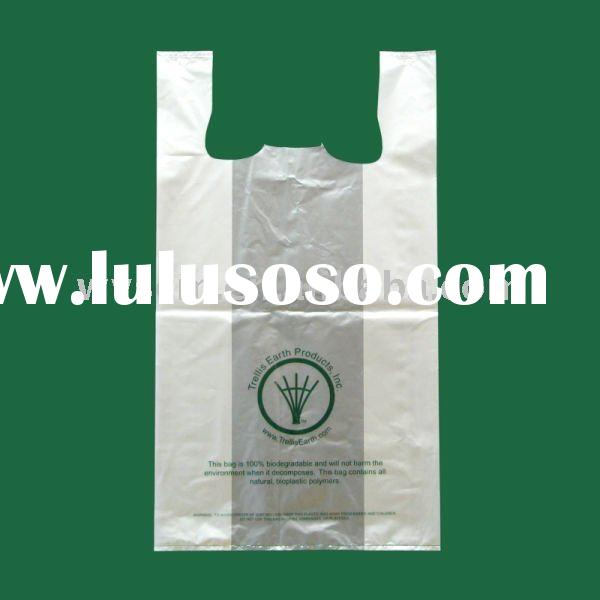 oxo-biodegradable t-shirt plastic bag with handle