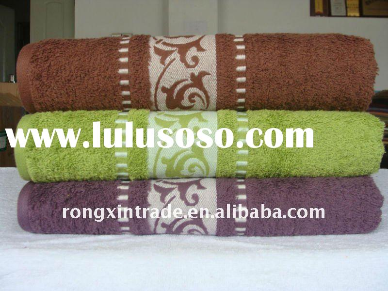 pure cotton bath towel with high quality