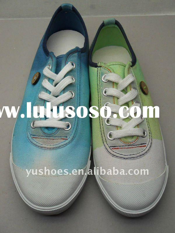 shoes dying canvas women 2012 new style fashion spring summer autumn vulcanized casual