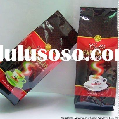 side gusset aluminum foil coffee bag with valve LG556/coffee bag/foil coffee bag